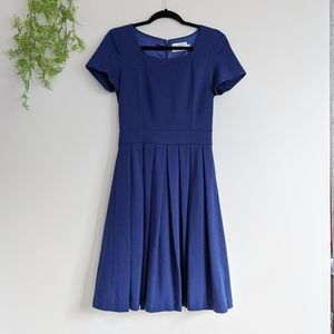 (Yellowberry) Blue Fit and Flare Dress Small